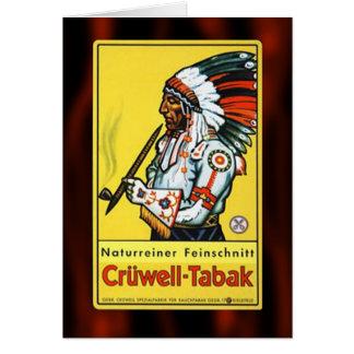 Vintage Natural Tobacco Ad Card