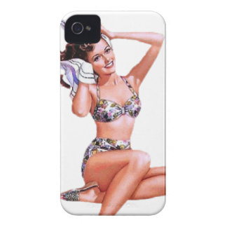 Vintage Naughty Doing the Do Pin Up Girl iPhone 4 Cases
