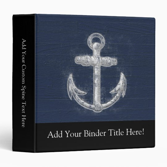 Vintage Nautical Anchor Binder