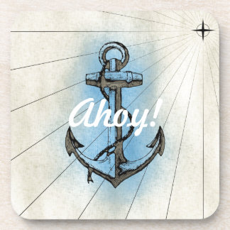 Vintage Nautical Anchor Coaster