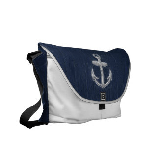 Vintage Nautical Anchor Courier Bag