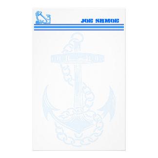 Vintage Nautical Anchor Customizable Stationery