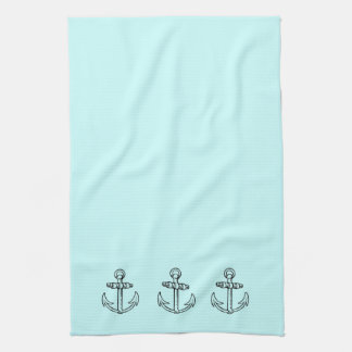 Vintage Nautical Anchors Design Kitchen Towel