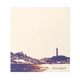Vintage Nautical Artistic Lighthouse Custom Note