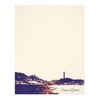 Vintage Nautical Artistic Lighthouse Letterhead