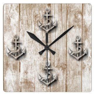 Vintage nautical classy anchor wooden wallclocks