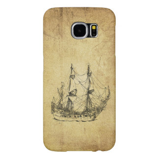 Vintage nautical classy manly ancient ship samsung galaxy s6 cases