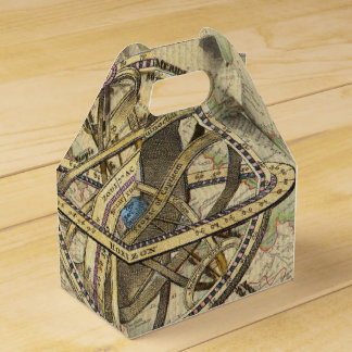 Vintage Nautical Compass and Map Favor Boxes