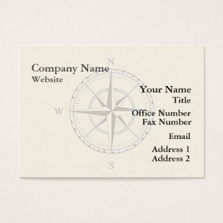 Vintage Nautical Compass Ivory Business Card