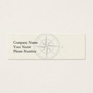 Vintage Nautical Compass Ivory Mini Business Card