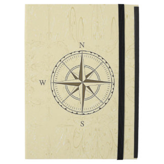 "Vintage Nautical Compass Rose Ivory iPad Pro 12.9"" Case"