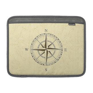 Vintage Nautical Compass Rose Ivory MacBook Air Sleeve