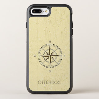Vintage Nautical Compass Rose Ivory OtterBox Symmetry iPhone 7 Plus Case