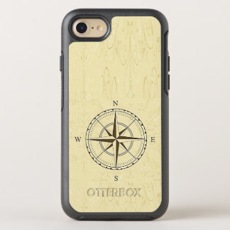 Vintage Nautical Compass Rose Ivory OtterBox Symmetry iPhone 8/7 Case