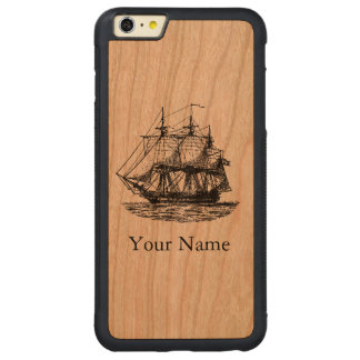 Vintage Nautical Sailing Personalized Wood Case