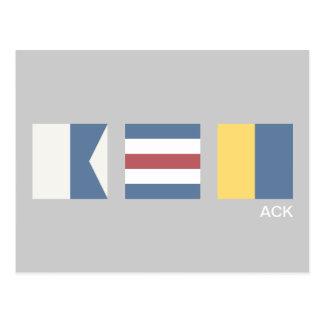 Vintage Nautical Signal Flag Nantucket Postcard