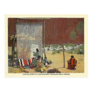 Vintage Navajo Weavers Postcard