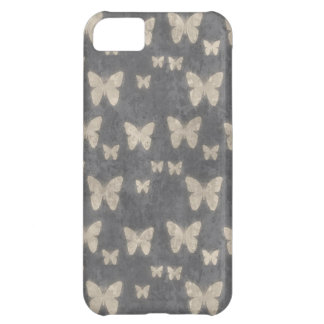 Vintage Navy Blue Butterfly Pattern iPhone 5C Covers