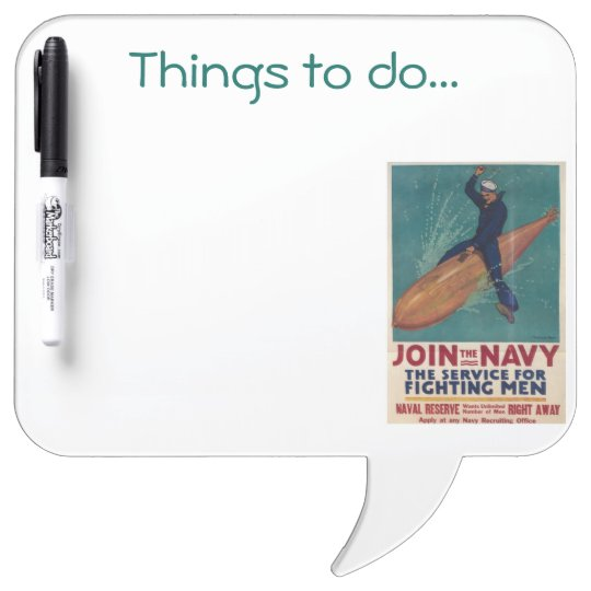 VINTAGE NAVY POSTERS - Dry-Erase WHITEBOARD