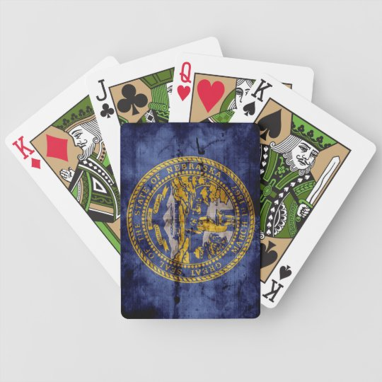 Vintage Nebraska Flag Playing Cards