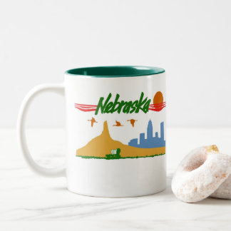 Vintage Nebraska Two-Tone Coffee Mug