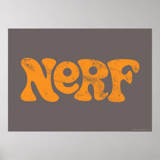 Vintage Nerf Logo Poster