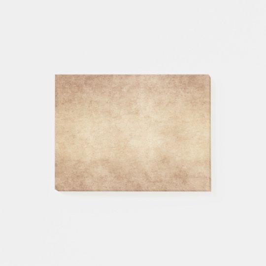 Vintage Neutral Brown Tan Parchment Antique Paper Post-it Notes