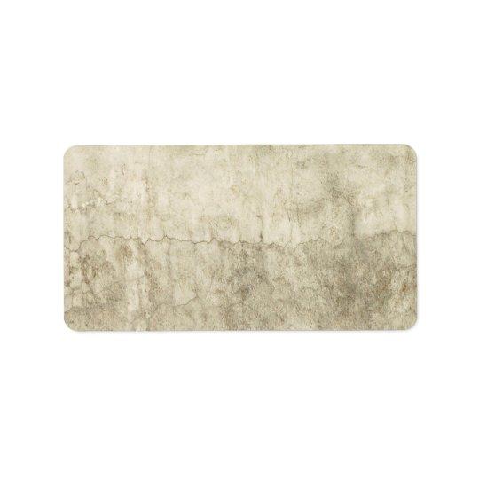 Vintage Neutral Plaster Paint Background Grunge Label