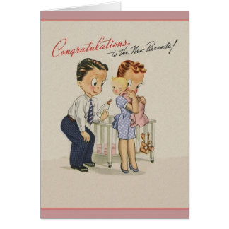 Vintage New Baby Congratulations Greeting Card