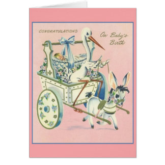 Vintage New Baby Greeting Card