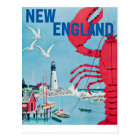 Vintage New England Lobster Lighthouse Travel Postcard