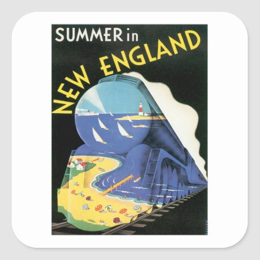 Vintage New England Stickers