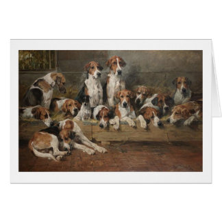 Vintage - New Forest Foxhound Dogs, Card