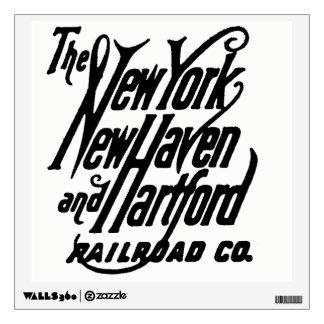 Vintage New Haven Railroad Logo Wall Sticker