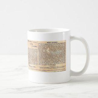 Vintage New Jersey History Mug