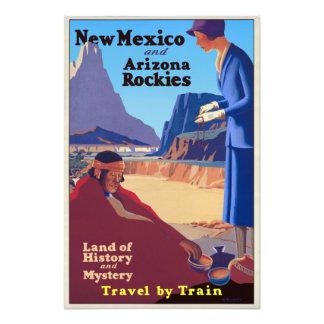 Vintage New Mexico and Arizona Rockies Travel Photo Print