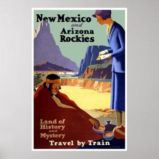 Vintage New Mexico & Arizona Travel Poster