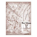 Vintage New Orleans Downtown 1920 Map Post Cards