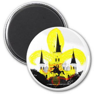 Vintage New Orleans Fleur de Lis Magnet