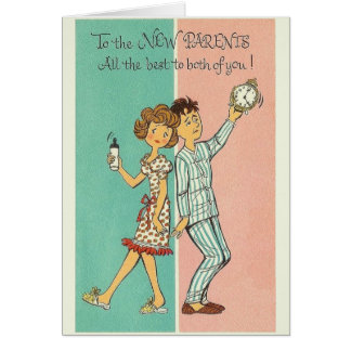 Vintage New Parents Greeting Card