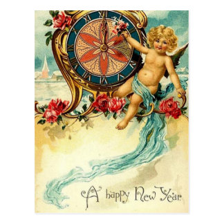 Vintage New Year - Post Card