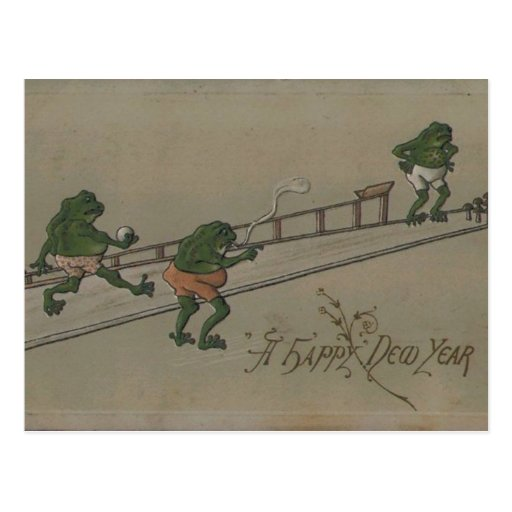 Vintage : New Year - Post Card