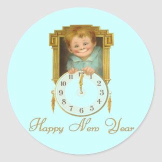 Vintage New Year Stickers