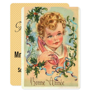 Vintage New Years Celebration Card