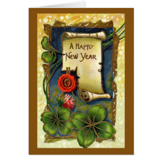 Vintage New Years Day Greeting Card