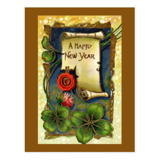 Vintage New Years Day Postcard