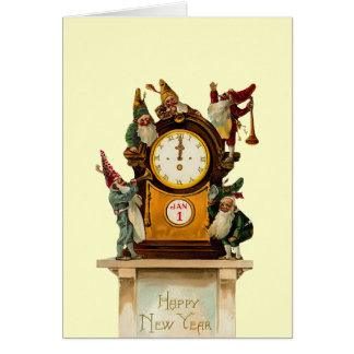 Vintage New Years Eve Card