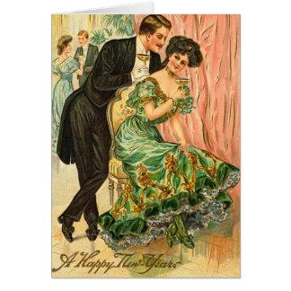 Vintage New Year's Greetings Card
