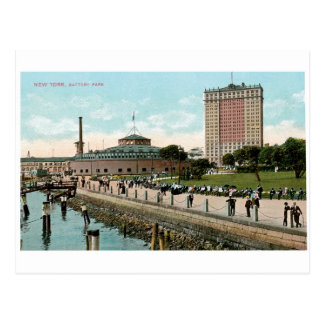 Vintage New York, Battery Park Postcard