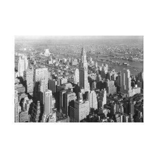 Vintage New York City Art Deco Skyscraper Canvas Print